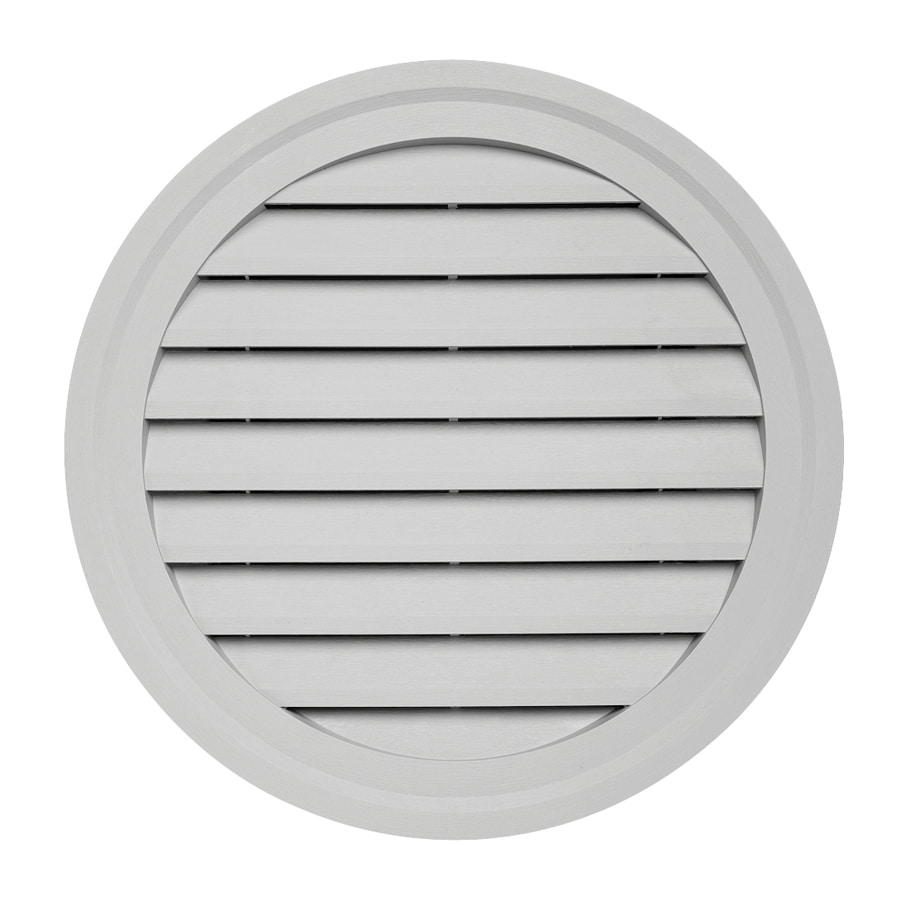 Georgia-Pacific 22-in x 2.5-in Gray Round Vinyl Gable Vent