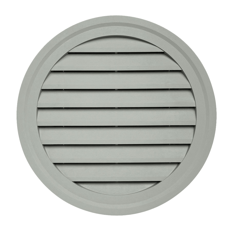Georgia-Pacific 22-in x 2.5-in Thistle Round Vinyl Gable Vent