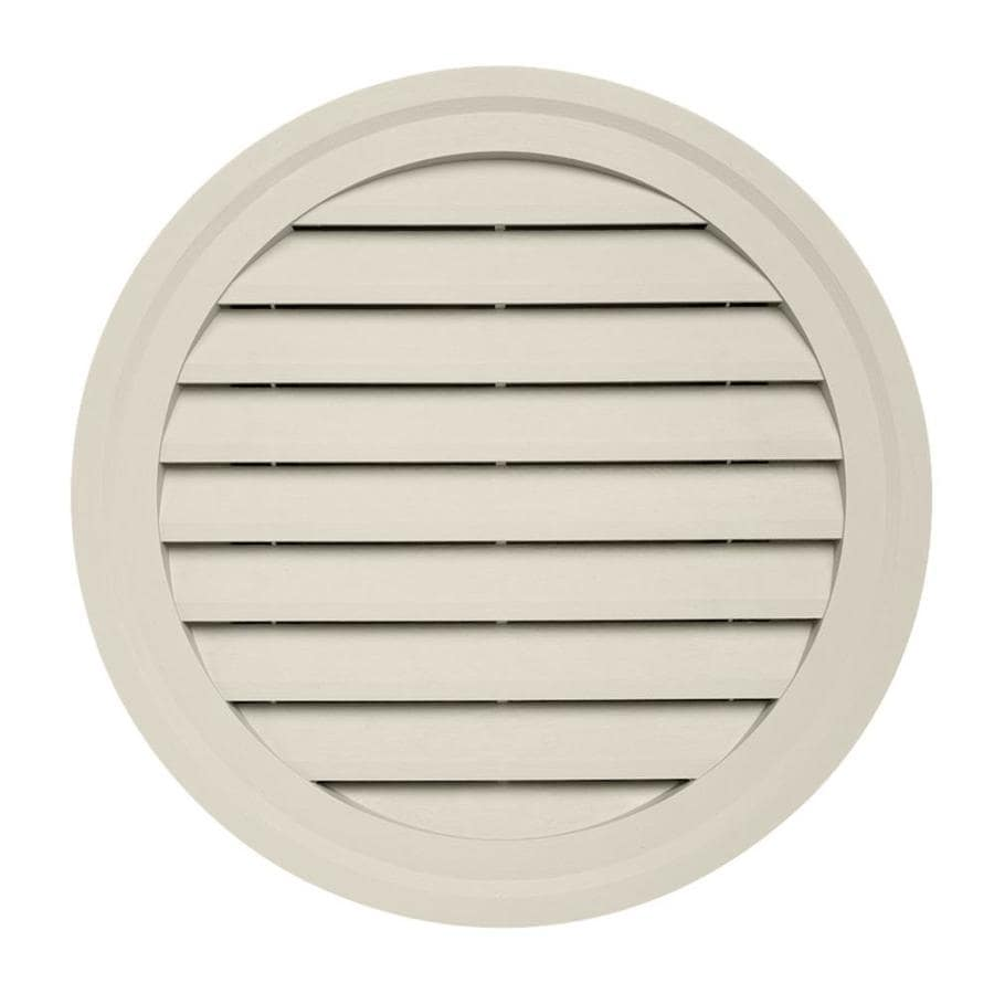 15-in x 10.5-in Almond Round Vinyl Gable Vent