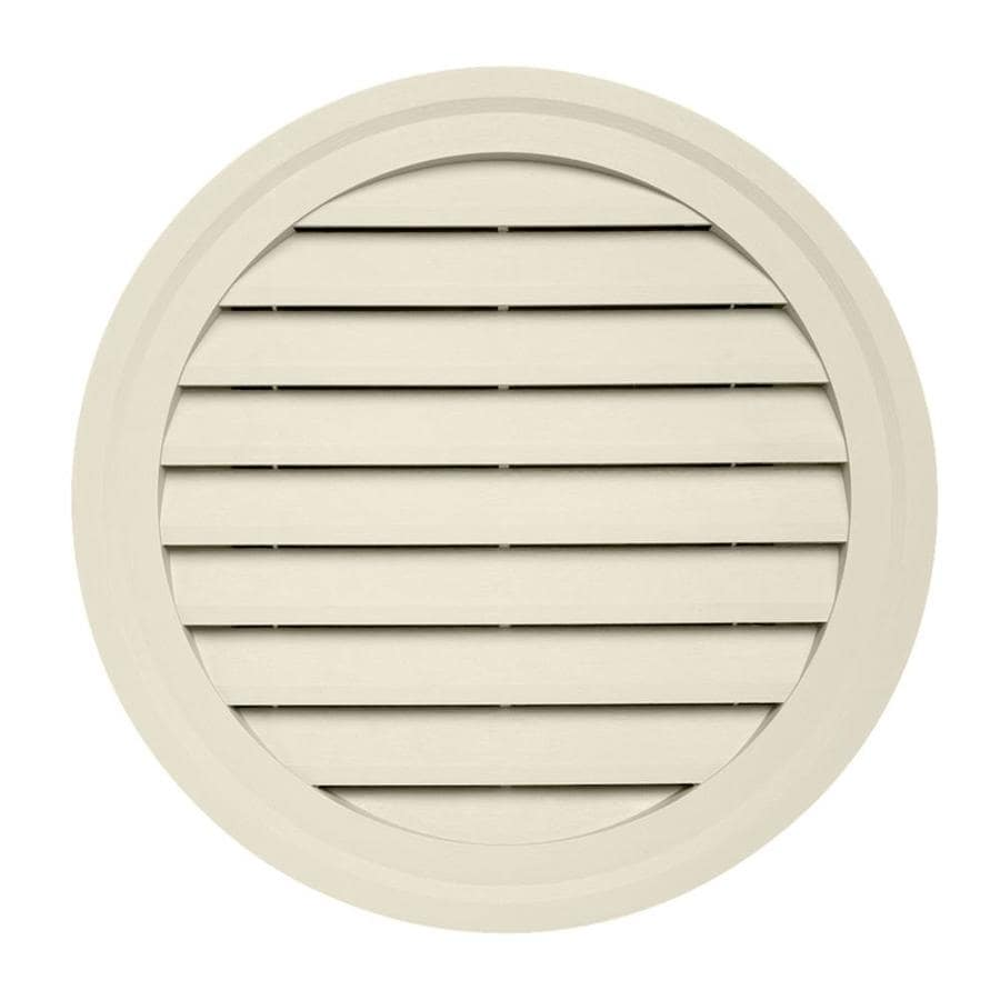 22-in x 2.5-in Cream Round Vinyl Gable Vent
