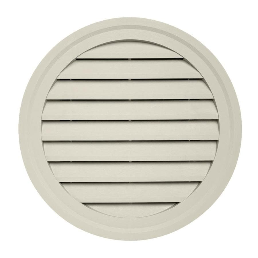 22-in x 2.5-in Pearl Round Vinyl Gable Vent