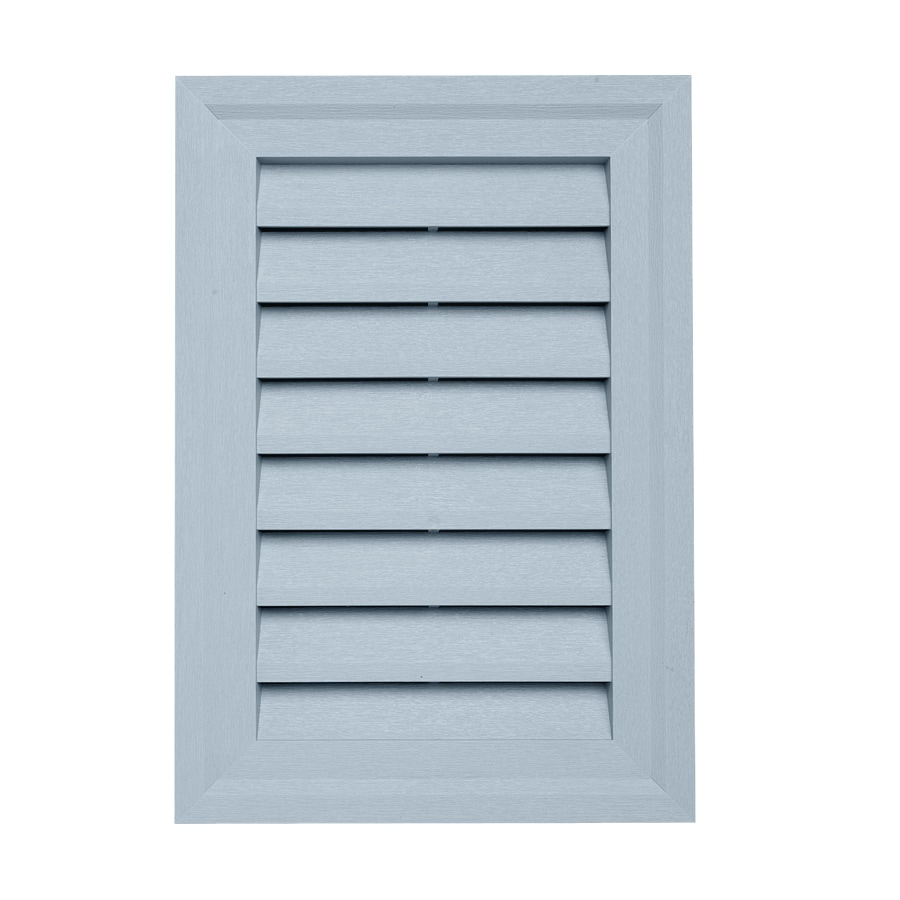 15-in x 10.5-in Blue Rectangle Vinyl Gable Vent