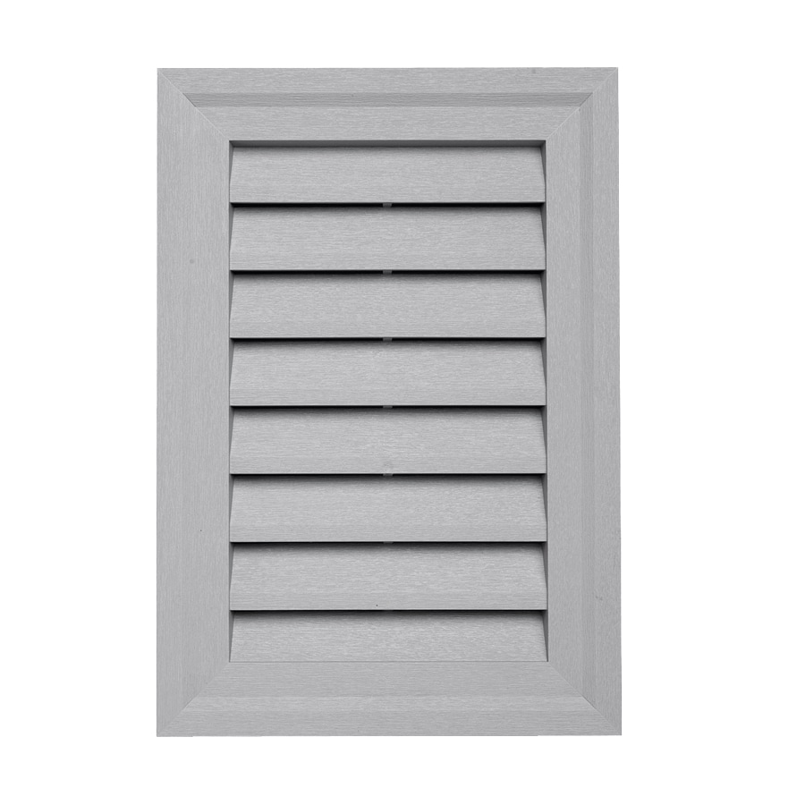 Georgia-Pacific 14-in x 20-in Flint Rectangle Vinyl Gable Vent
