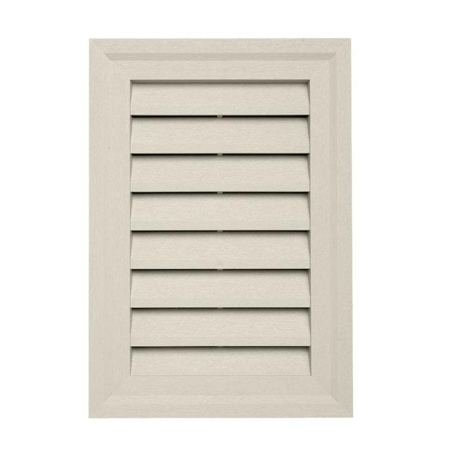 15-in x 10.5-in Almond Rectangle Vinyl Gable Vent