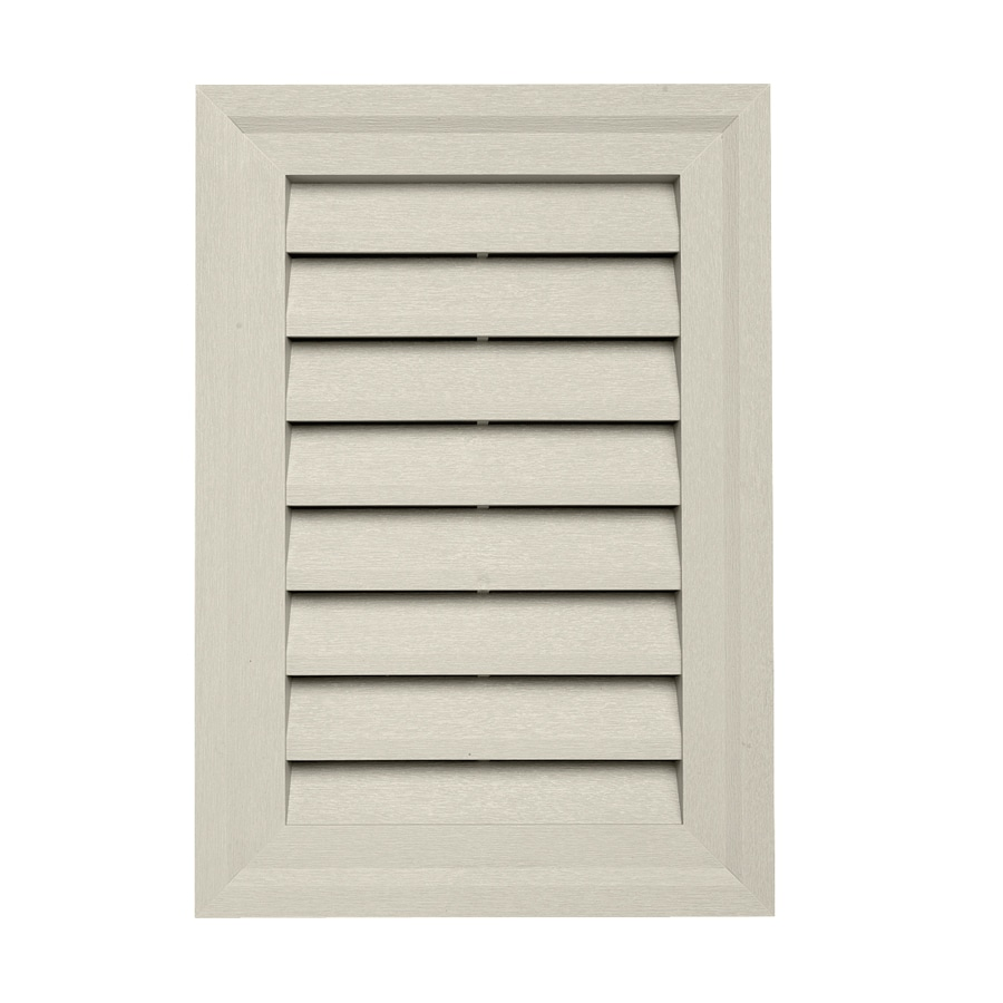 20-in x 14-in Pearl Rectangle Vinyl Gable Vent
