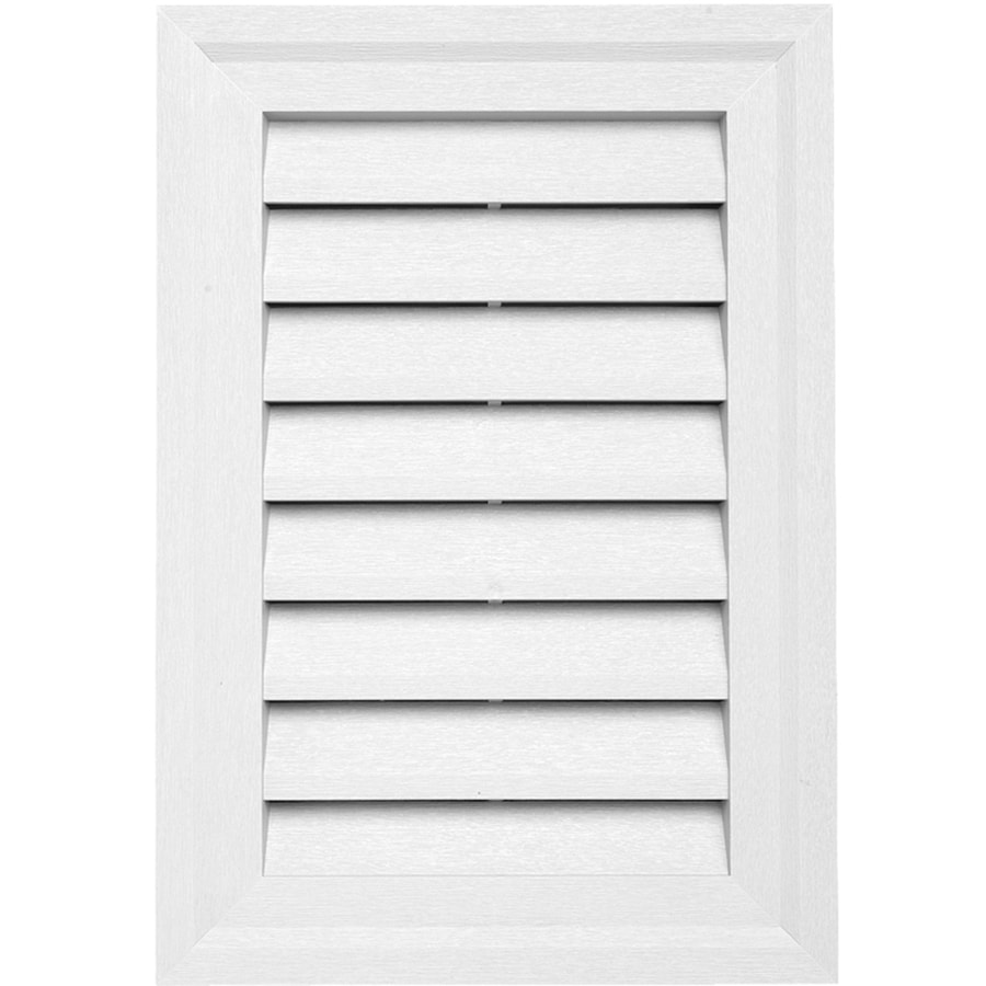 20-in x 14-in White Rectangle Vinyl Gable Vent