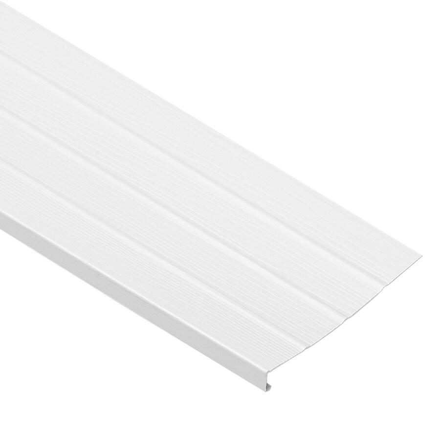 Georgia-Pacific 8-in x 12.5-ft White Woodgrain Vinyl Fascia