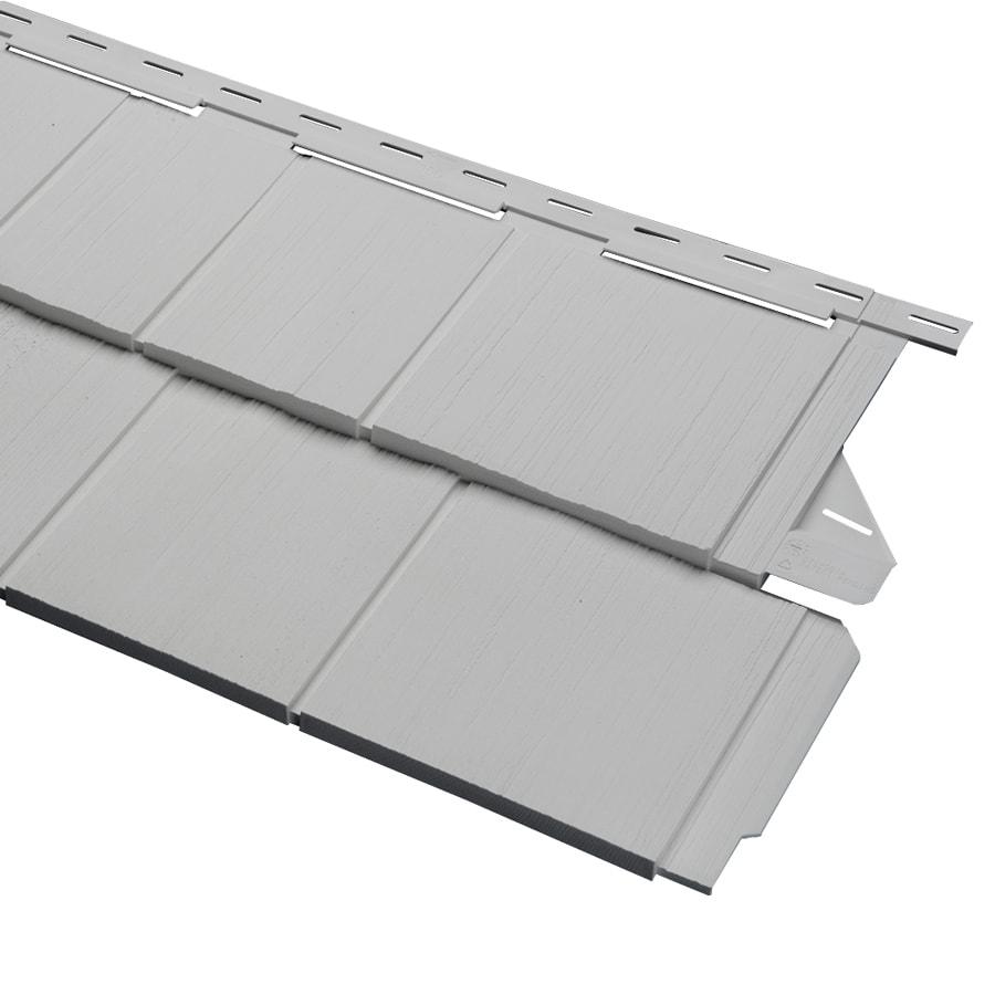 Georgia-Pacific Cedar Spectrum Vinyl Siding Panel Perfection Shake Gray 15.5-in x 54.625-in