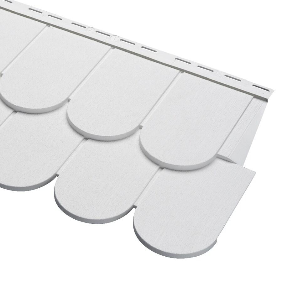 Georgia-Pacific Cedar Spectrum Vinyl Siding Panel Scallop White 16.375-in x 54.75-in