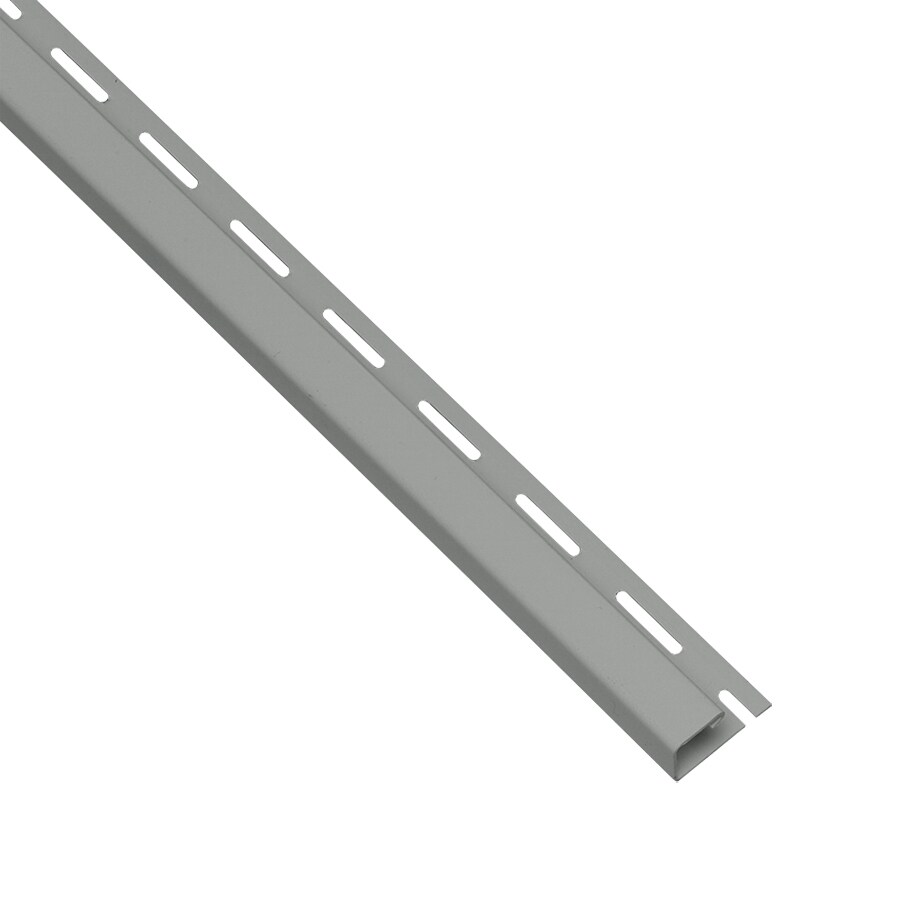 Georgia-Pacific 0.625-in x 150-in Pewter J-Channel Vinyl Siding Trim