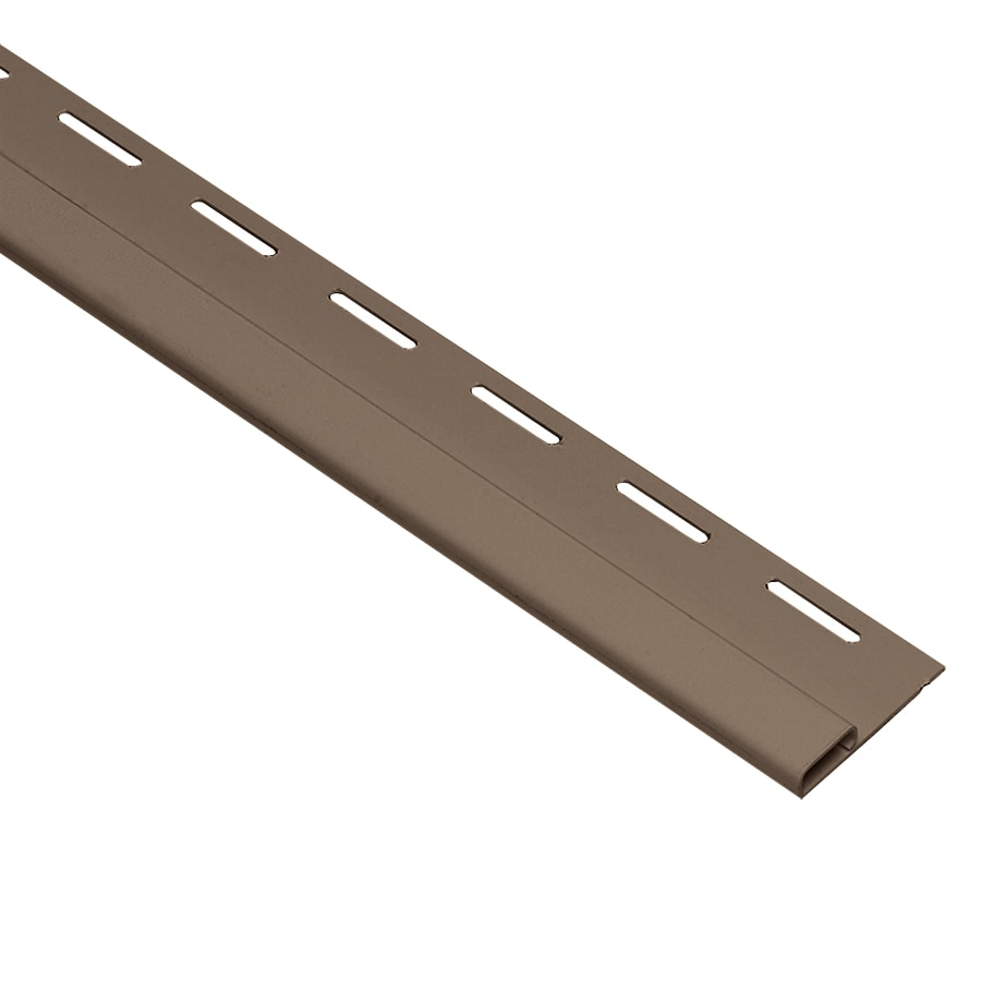 Georgia-Pacific 0.375-in x 150-in Teak Undersill Vinyl Siding Trim