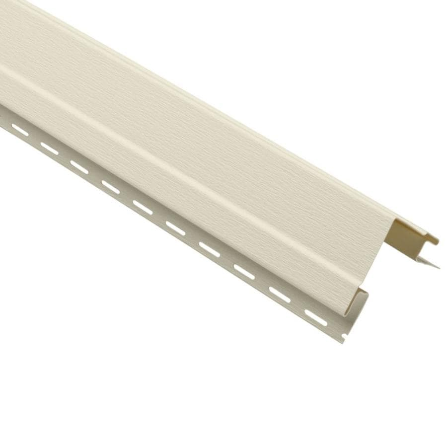 Georgia-Pacific 4-in x 120-in Cream Outside Corner Post Vinyl Siding Trim