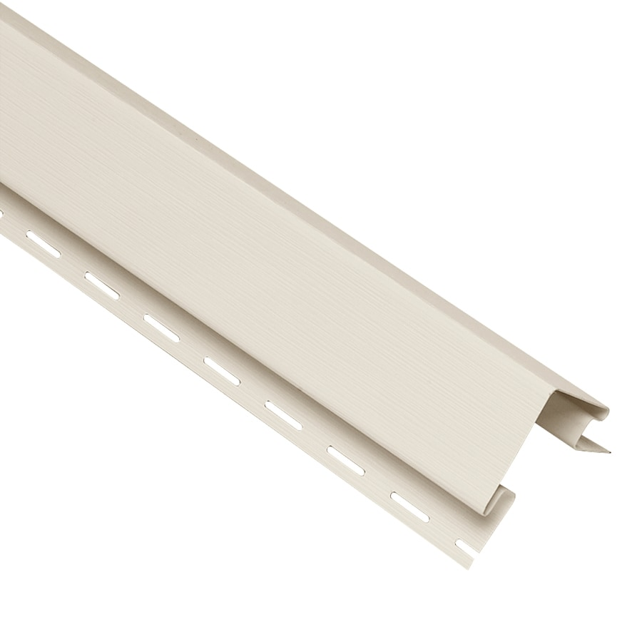 Georgia-Pacific 4-in x 120-in Pearl Outside Corner Post Vinyl Siding Trim