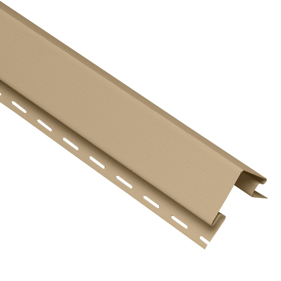 Georgia-Pacific 4-in x 120-in Hazelnut Outside Corner Post Vinyl Siding Trim