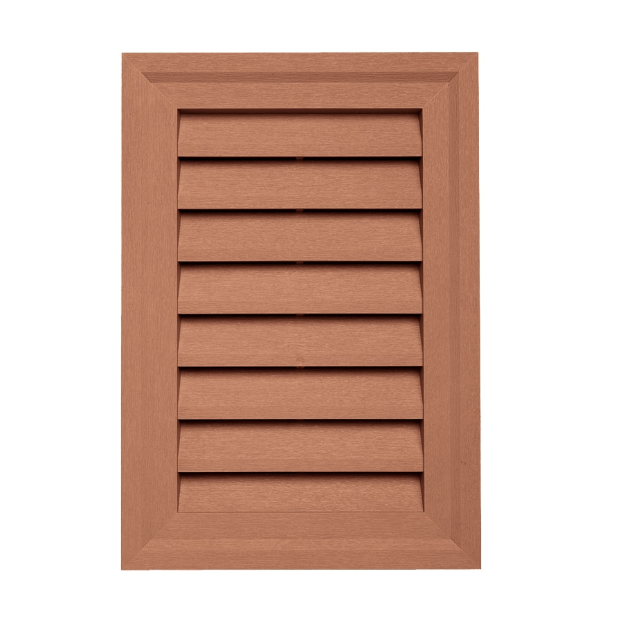 Georgia-Pacific 14-in x 20-in Redwood Rectangle Vinyl Gable Vent