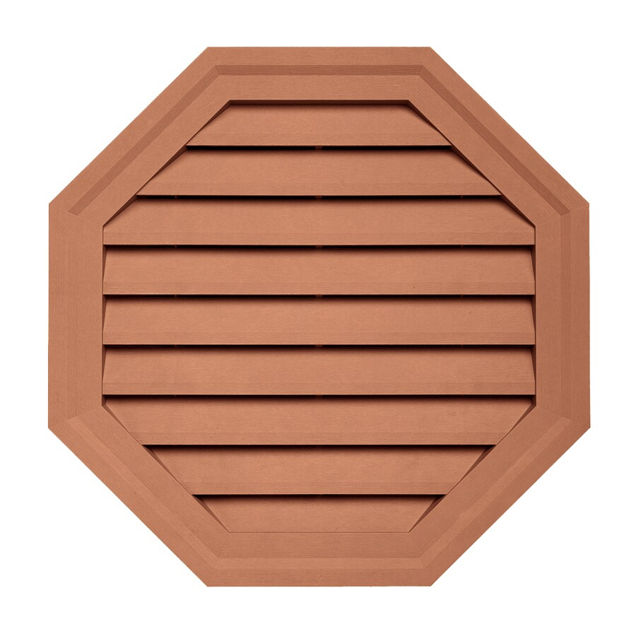 Georgia-Pacific 22-in x 22-in Redwood Octagon Vinyl Gable Vent