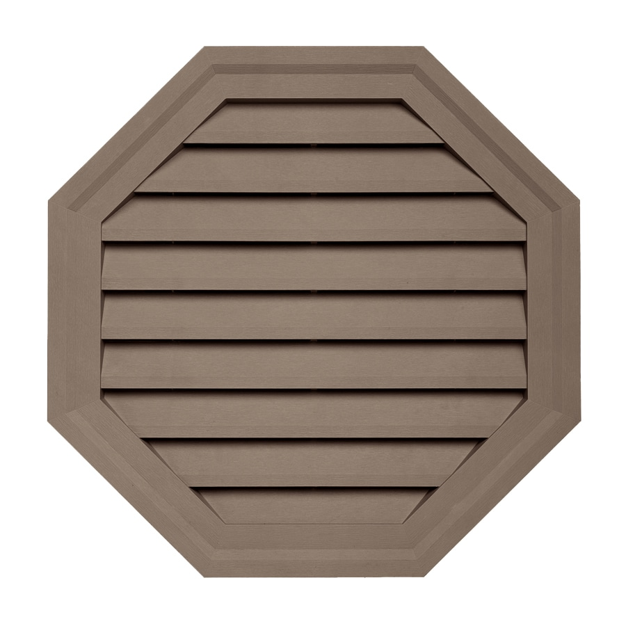 Georgia-Pacific 22-in x 22-in Hearthstone Brown Octagon Vinyl Gable Vent