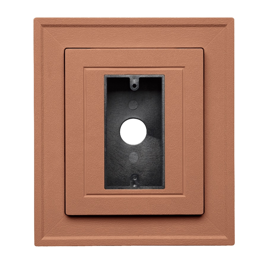 Georgia-Pacific 8.5-in x 7.5-in Redwood Vinyl Electrical Mounting Block