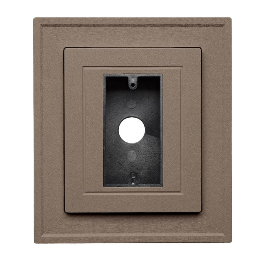 Georgia-Pacific 8.5-in x 7.5-in Hearthstone Brown Vinyl Electrical Mounting Block