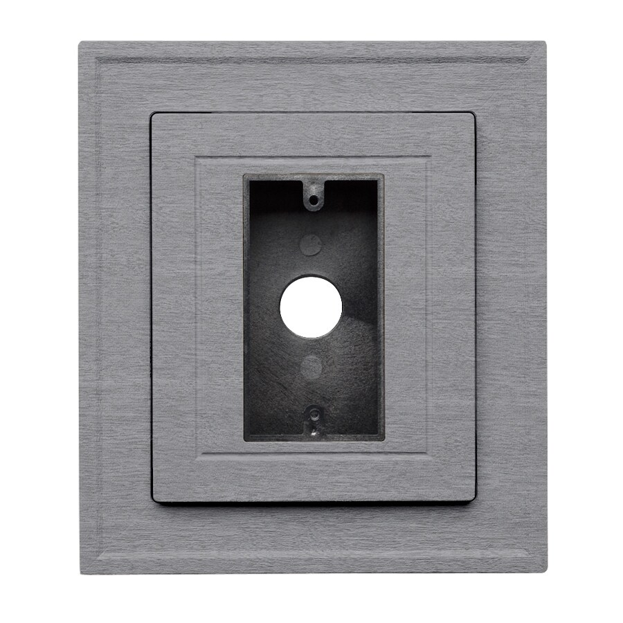 8.5-in x 7.5-in Coastal Blue Vinyl Electrical Mounting Block