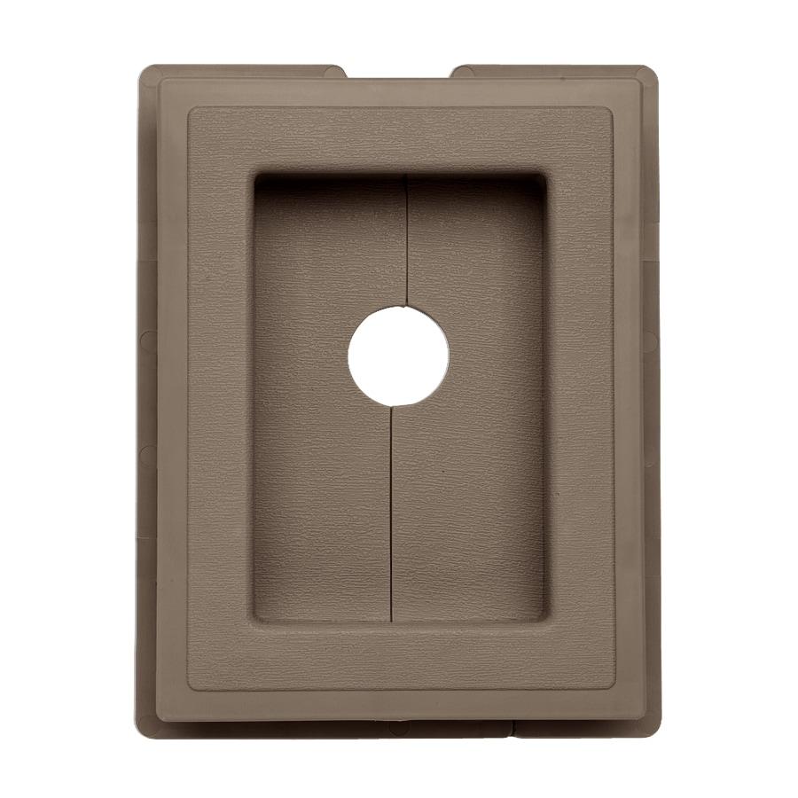 Georgia-Pacific 7.5-in x 1-in Hearthstone Brown Vinyl Universal Mounting Block
