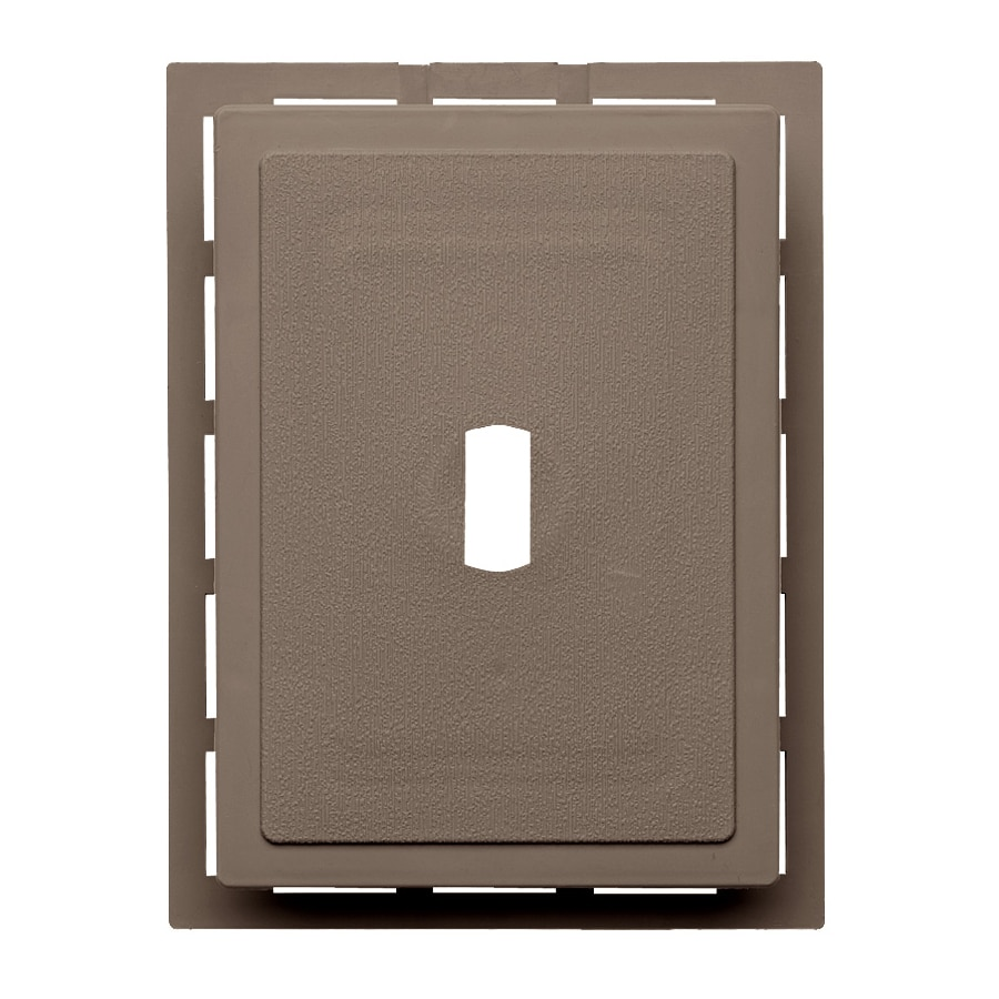 Georgia-Pacific 6-in x 0.875-in Hearthstone Brown Vinyl Universal Mounting Block
