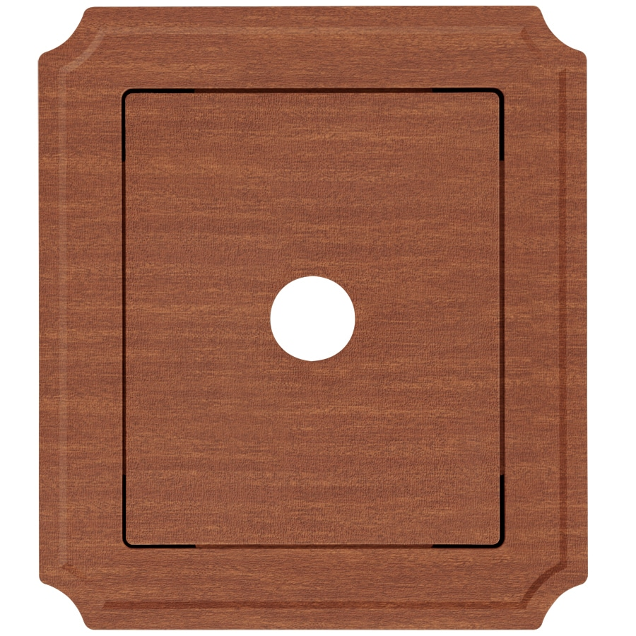 Georgia-Pacific 8.54-in x 7.52-in Redwood Vinyl Universal Mounting Block