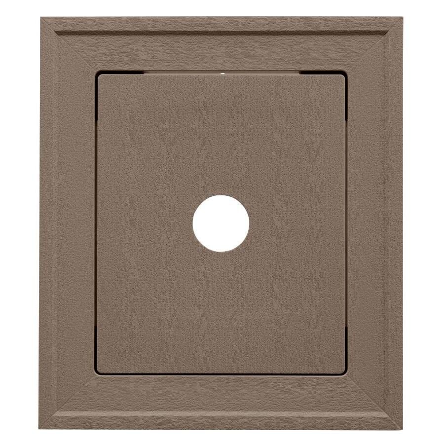 Georgia-Pacific 8.54-in x 7.52-in Hearthstone Brown Vinyl Universal Mounting Block