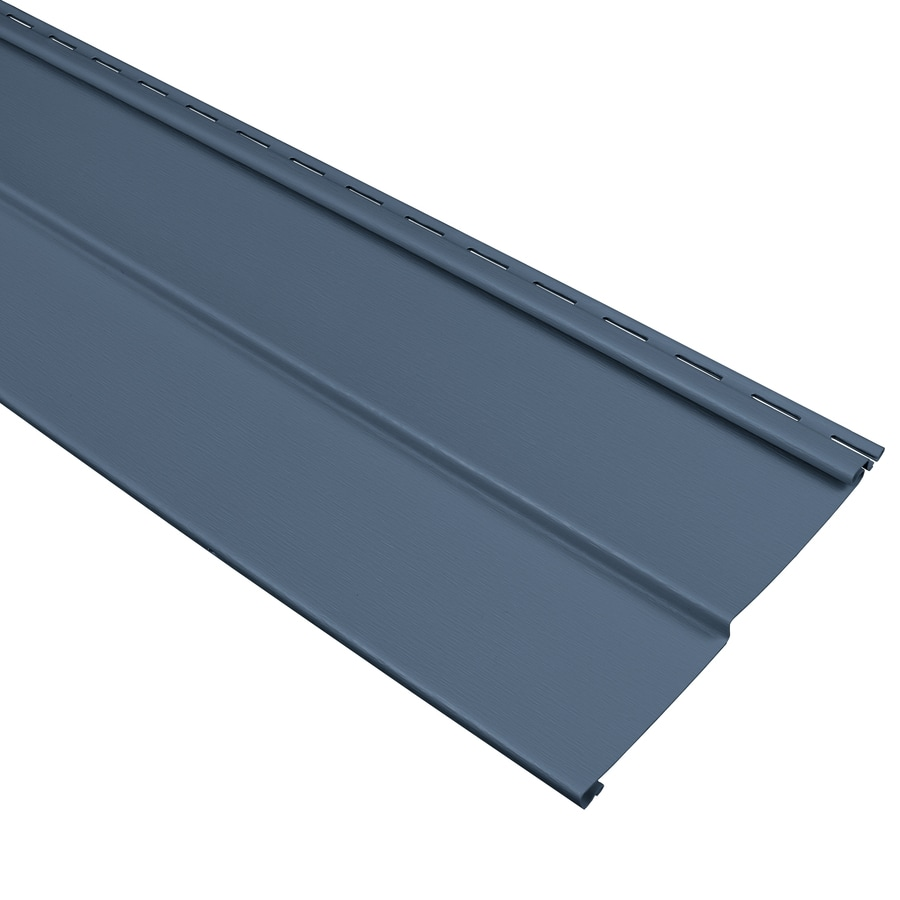 Georgia Pacific Comp Vinyl Siding Panel Double 4 Traditional Bayou Blue 8 In X