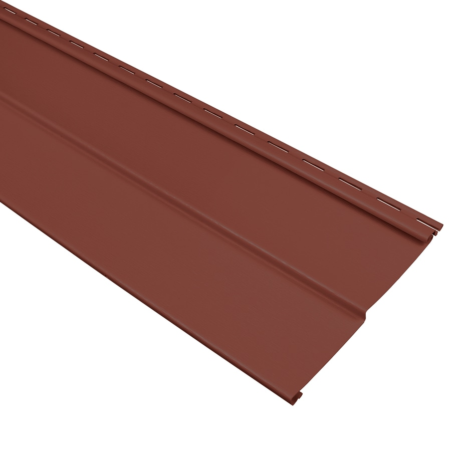 Georgia-Pacific Compass Vinyl Siding Panel Double 4 Traditional Hampton Red 8-in x 150-in