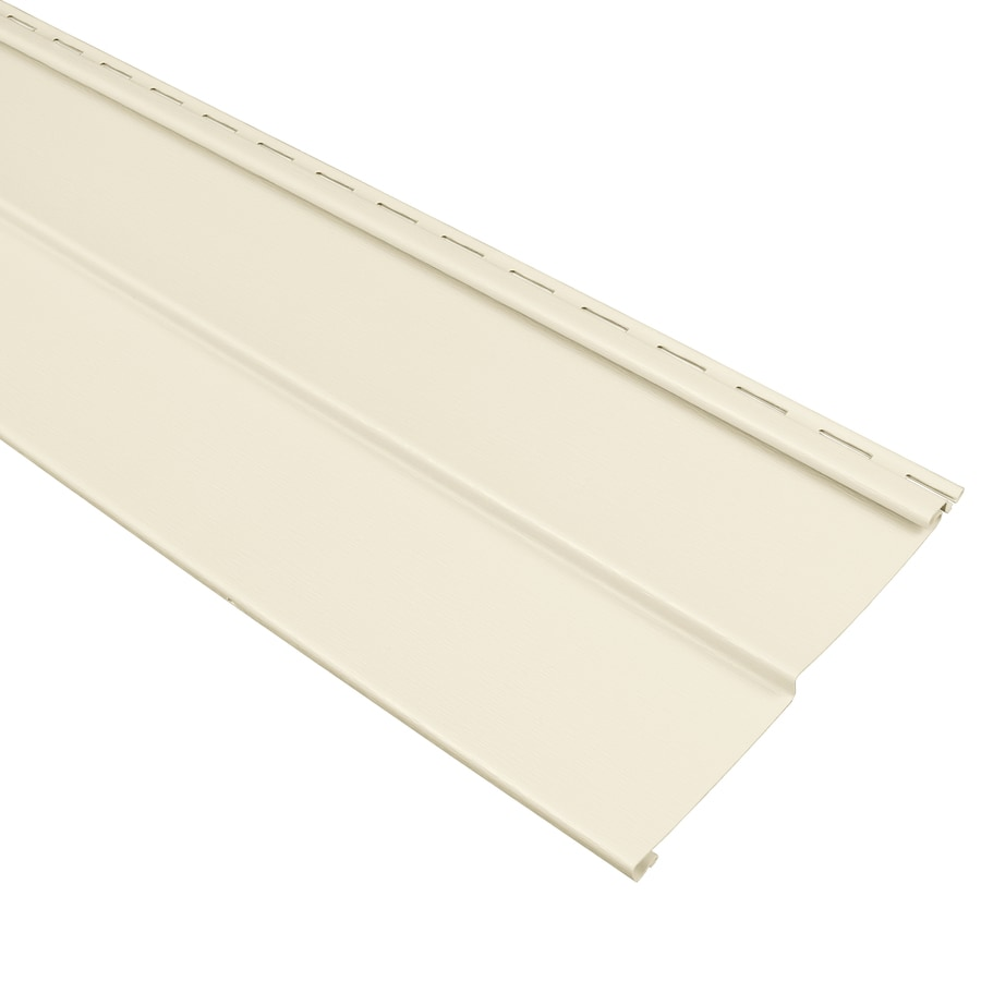 Georgia-Pacific Compass Double 4 Traditional Cream Vinyl Siding Panel 8-in x 150-in