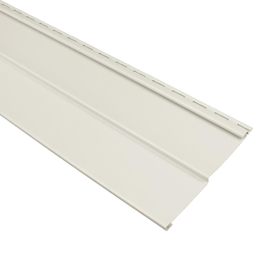 Georgia-Pacific Compass Vinyl Siding Panel Double 4 Traditional Pearl 8-in x 150-in