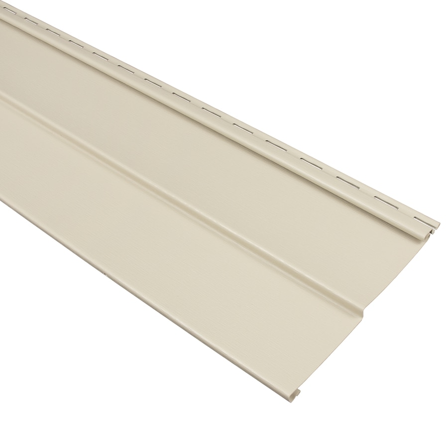 Georgia-Pacific Compass Vinyl Siding Panel Double 4 Traditional Almond 8-in x 150-in