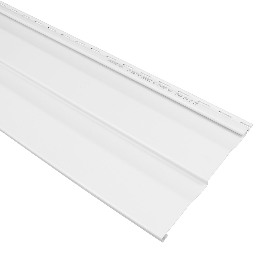 Georgia-Pacific Compass Vinyl Siding Panel Double 4.5 Dutch Lap White 9-in x 145-in