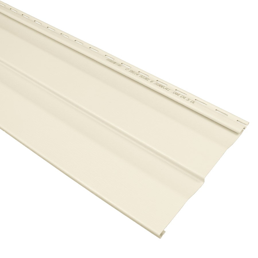 Georgia-Pacific Compass Vinyl Siding Panel Double 4.5 Dutch Lap Cream 9-in x 145-in