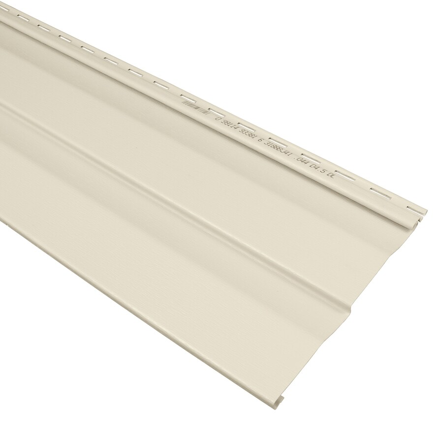 Georgia-Pacific Compass Double 4.5 Dutch Lap Almond Vinyl Siding Panel 9-in x 145-in