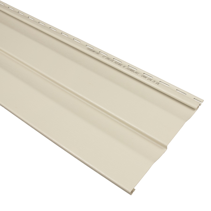 Georgia-Pacific Compass Double 4.5 Dutch Lap Tan Vinyl Siding Panel 9-in x 145-in