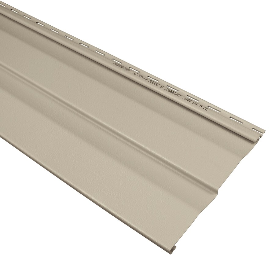 Georgia-Pacific Compass Double 4.5 Dutch Lap Clay Vinyl Siding Panel 9-in x 145-in