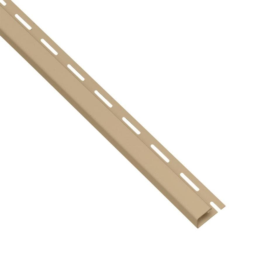 Georgia-Pacific Vinyl Siding Trim J-Channel Hazelnut 0.95-in x 150-in