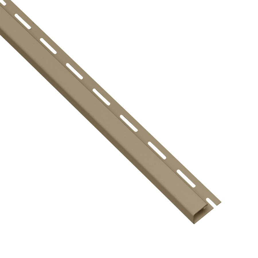 Georgia-Pacific Vinyl Siding Trim J-Channel Briarwood 0.95-in x 150-in