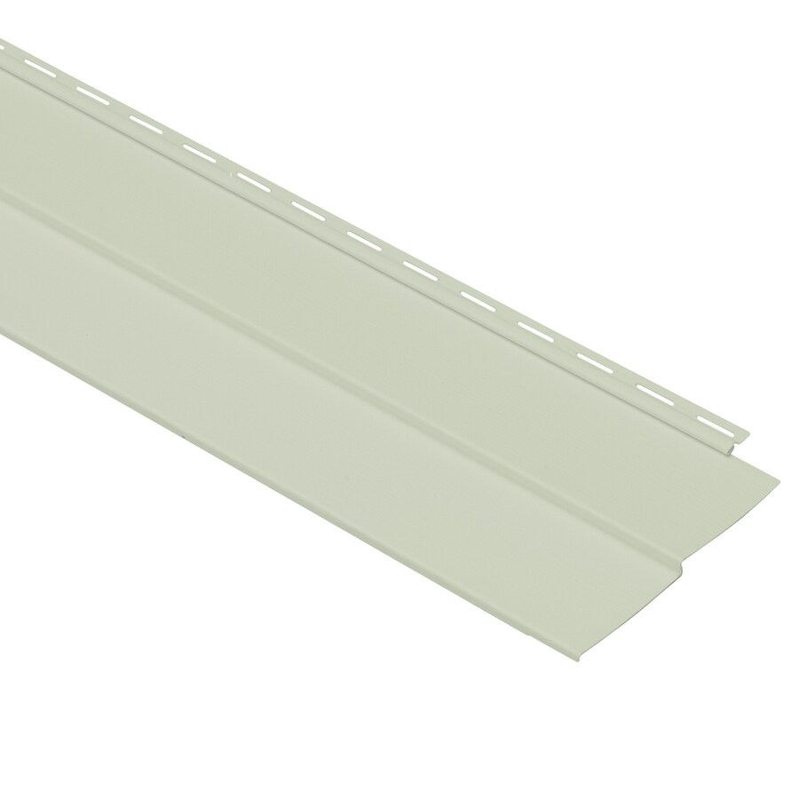Georgia-Pacific Vision Pro Double 4 Traditional Olive Vinyl Siding Panel 8-in x 150-in