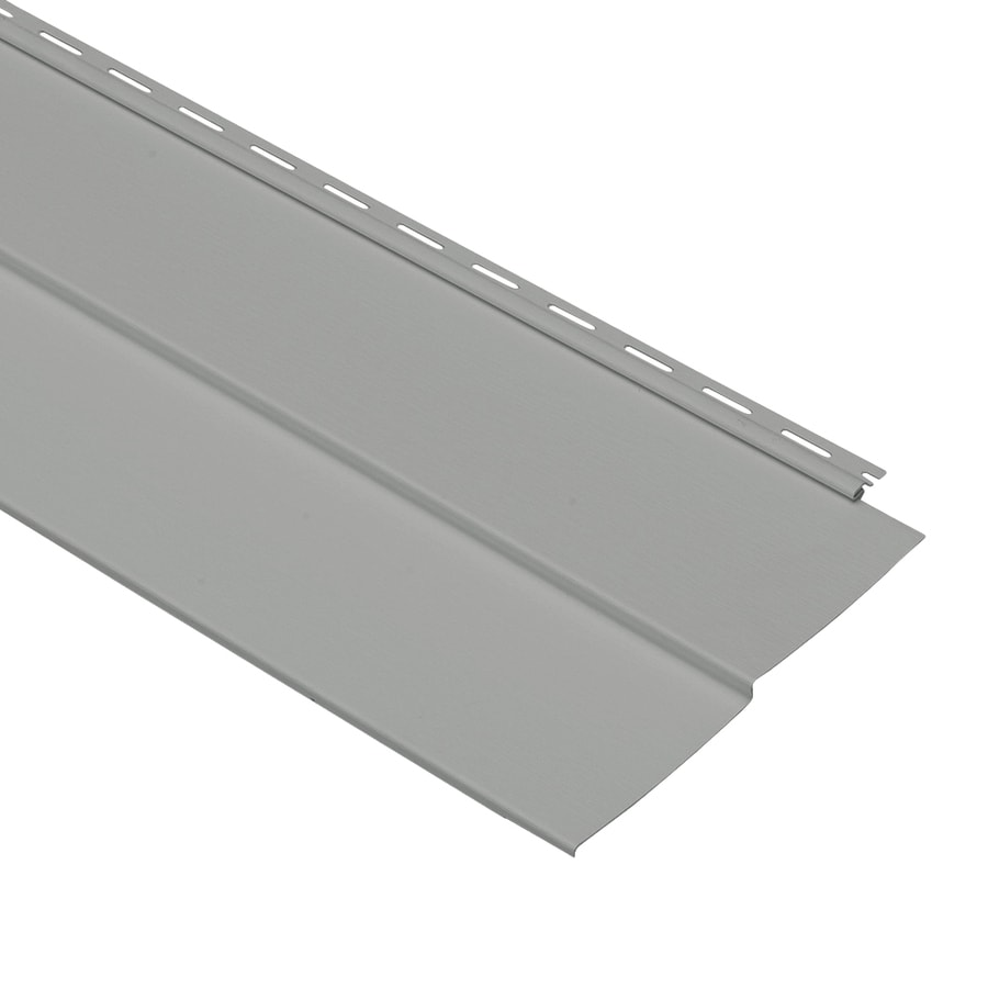 Georgia-Pacific Forest Ridge Vinyl Siding Panel Double 5 Traditional Pewter 10-in x 144-in