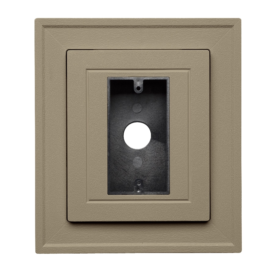 Georgia-Pacific 8.5-in x 7.5-in Briarwood Vinyl Electrical Mounting Block