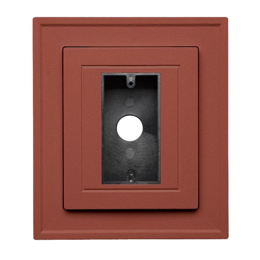 Georgia-Pacific 8.5-in x 7.5-in Hampton Red Vinyl Electrical Mounting Block