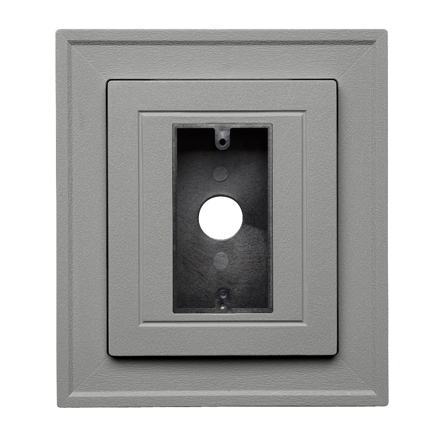Georgia-Pacific 8.5-in x 7.5-in Pewter Vinyl Electrical Mounting Block