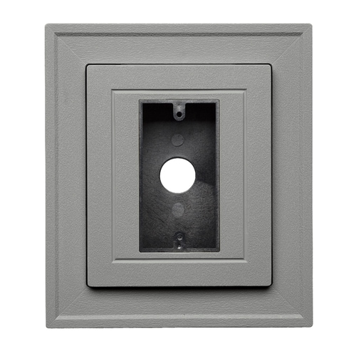 Ply Gem 8 5 In X 7 5 In Pewter Vinyl Electrical Mounting Block At Lowes Com