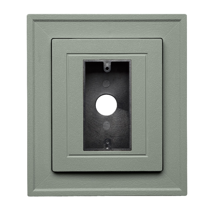 Georgia-Pacific 8.5-in x 7.5-in Sagebrook Vinyl Electrical Mounting Block