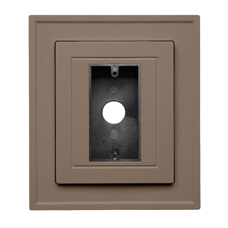 Georgia-Pacific 8.5-in x 7.5-in Teak Vinyl Electrical Mounting Block