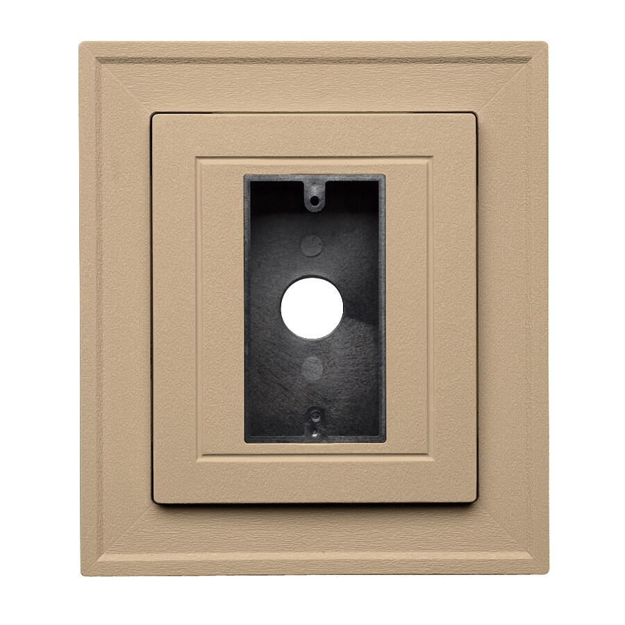 Georgia-Pacific 8.5-in x 7.5-in Hazelnut Vinyl Electrical Mounting Block