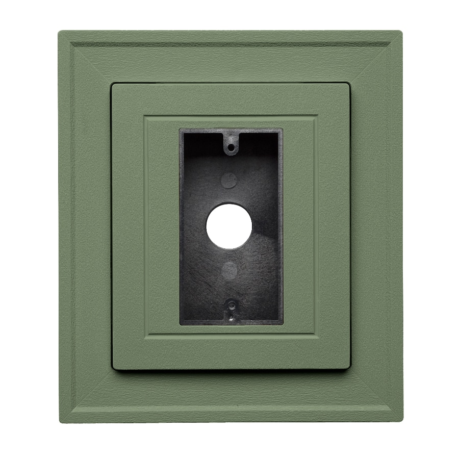 Georgia-Pacific 8.5-in x 7.5-in Palm Vinyl Electrical Mounting Block